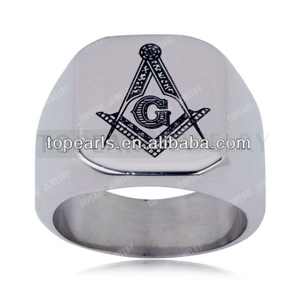 Free Shipping! Wholesale 3pcs Stainless Steel Masonic Rings MER882(China (Mainland))