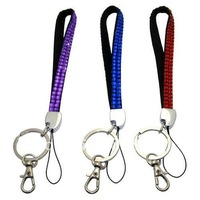 wholesale 12cm Rhinestone Crystal Wristlets Lanyard Key Chain / Cell Phone / Camera crystal lanyards  freeshipping