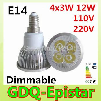 Free shipping 10x Dimmable 12W MR16 GU10 E27 B22 E14 GU5.3 High Power LED  Bulb LED Lamp Spotlight Downlight LED Lighting