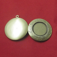 Brass Pendant, Album box, Flat Round,silver plated, 32.5x35mm,Nickel free,Lead Free Hole:Approx 2.2MM, sold by PC/ID3320