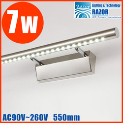 2012 NEW 7W Led SMD mirror front lamp,wall lamp,all stainless steel~very high quality,high quality Steel,Free shipping DHL/EMS.(China (Mainland))