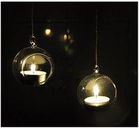 4PCS/Lot, Wholesale Dia 8cm Candlestick Vase Wedding&Christmas decorations ball glass Home Decor Hanging terrarium Free shipping
