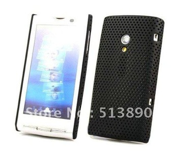 Free ship 30pcs For Sony Ericsson Xperia X10 X10i back cover net mesh hard case