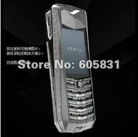Free shipping Unlocked silver Quadband Steel SUPER LUXURY Limited Edition Mobile Phone ASCENT GT built-in 2GB metal cell phone
