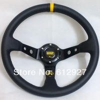 "14"" OMP Steering Wheel PVC Leather Steering Wheel 14 Inch OMP Steering Wheel Deep Dish"