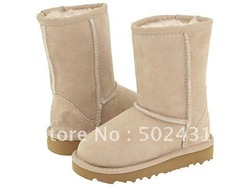 kid Boots snow boots Real Australia leather children shoes drop shipping(China (Mainland))