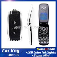 Car Key Phone C9 Mini Phone Single SIM Card with 1.5 inch Screen / Camera / FM / Bluetooth ( French Spanish Russian language )