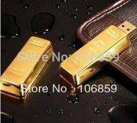 Free DHL EMS Shipping - Golden Bar Usb 1gb 2gb 4gb 8gb 16GB Metal Usb Flash disk+ Free Engrave Logo