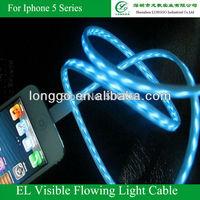 Cable for Nokia,Motorala,LG etc. ,EL Visible Flahsing Light ,Micro USB,Mini USB