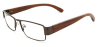Half rim eyeglasses Frame Men's Designer metal fashion optical glasses nature wood handcraft optical frame