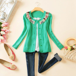 2012 spring new arrival cutout crotch cardigan long-sleeve sweater coat woman female KX-K0011(China (Mainland))