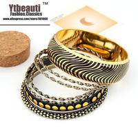 [Mix 15USD] European New Design 2013 women luxurious vintage in Gold Leopard Multilayer Bracelets & bangle
