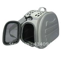 Foldable Transport Pet Carrier (Plain color fabric)-SDT3043B-light  grey