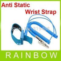100pcs/lor RA NEW Anti Static Antistatic ESD Adjustable Wrist Strap Band Grounding Blue Free Shipping