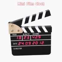 1pc High Quality Mini Flim Clock For Desk Decor & Creative LED Digital Clock With Fashion Design Table Clock