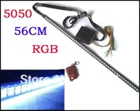 RGB 7-Color 5050 LED 56cm RGB Scanner Strip Lighting Kit with Wireless Remote Control (aka LED Knight Rider Light)