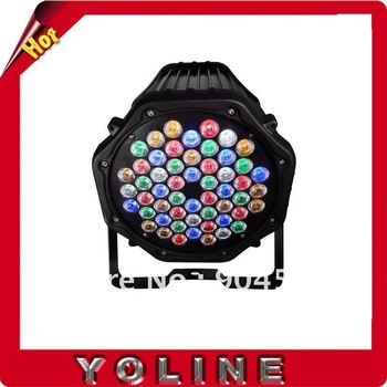 YO-LD601-3B 54 pcs*3W R/G/B/W/A 6pcs/lot Fiver color led spot lighting one year warranty