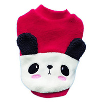 Fashion Panda Style Dog Clothing, Dog Autumn&Winter Dress Pet Clothes Red Color Size XS ,S, M, L, XL