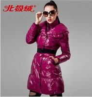 Fashion  women's medium-long slim down coat  outerwear