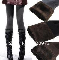 Free shipping 2014 new arrival women winter plus size double layer warm thicken velvet leggings