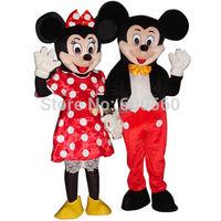 2pcs/lot Cheap Price Mickey and Minnie MASCOT COSTUME Free Shipping