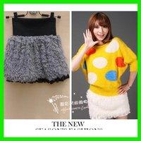 Fashion Tibet Sheep Faux Fur Short Skirt Lace Casual Thick  Women's Clothing/Wholesale/Retail/Free Sale/OEM