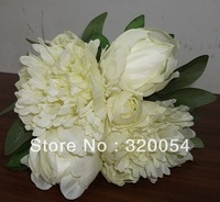 Free shipping,1bouquet,peony flower bouquet,High-end artificial silk flowers, bridal bouquets,home and wedding decorations.