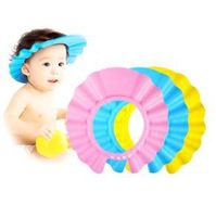 Min Order $20 (mixed order) Retail Adjustable Shower cap protect Shampoo for baby health Bathing bath waterproof hats (KF-11)