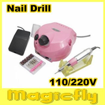 [US202-001]110/220V Pro NEW Pink Electric Nail Drill for Nail Art Acrylic Nail Drill Salon and Home Use free Shipping