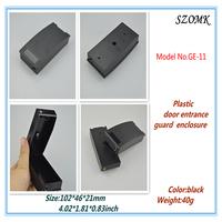 """20 pieces a lot black plastic door entrance guard enclosure   GE-11   102x46x21mm   4.02""""x1.81""""x0.83"""""""