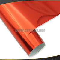Red Chrome vinyl film, Chrome mirror foil air bubble free quality 1.52*30m size