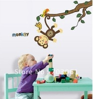 Monkey Wall Stickers Nursery Childrens room