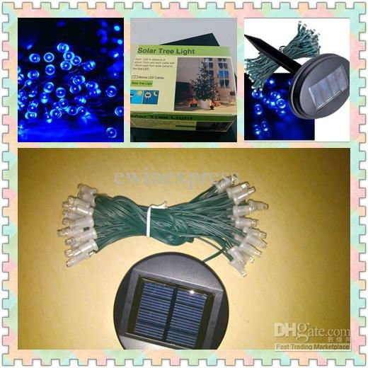 60-LED-Solar-Power-String-Light-Solar-Tree-Christmas-Fairy-Blue-New