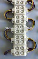20pcs/lot RGB led module injection 4PCS 5050 module 12V1W 120degree IP65 Anti-static anti fire Anti-UV ABS shell advertising led