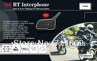Updated 2013 1000M bluetooth helmet intercom BT interphone bluetooth helmet headset  with Hi-Fi speakers single box for 6 riders