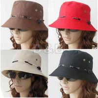 Min.order is $5(mix order) 2014 NEW 100% COTTON UNISEX SUN HAT WOMEN FISHING BUCKET HAT MEN CAP, FREE SHIPPING 80143