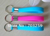 500pcs  custom silicone key chain promotional keyrings EG-SKR001 blank key ring