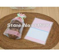 Pink Stripe food packing bags,gift plastic bags 12x18x4cm 200pcs/lot