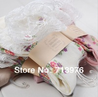 free shipping!wholesale autumn women socks,ladies lace socks,women floral print socks,22-25cm,20 pairs/lot
