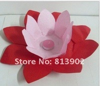 25pcs/lot two-tone Chinese Paper Flower Lotus Chinese Wish Lantern Water Floating Candle Light wishing lanterns ,LL117