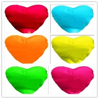 5pcs/lot different colors Heart shaped UFO Lamp Wishing Sky Lantern Chinese Lantern Birthday Xmas Party Wedding Lamp,SLF17