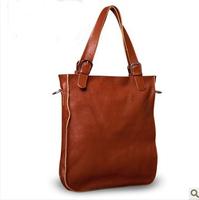 Western wind Lai imported grain leather handbag bag leather simple Joker vertical women's leisure bag