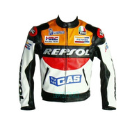 REPSOL's cool motorbike racing suit waterproof clothing locomotive suit jacket leather PU suzuki Honda yamaha321