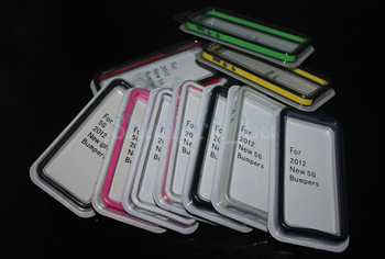 Wholesale Bumper frame case for iphone 5 5g Newest TPU&PU case with retail package DHL free shipping