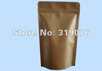 Factory directly sale Free shipping wholesale kraft aluminum foil coffee bean standup zipper lock doypack packaging bags