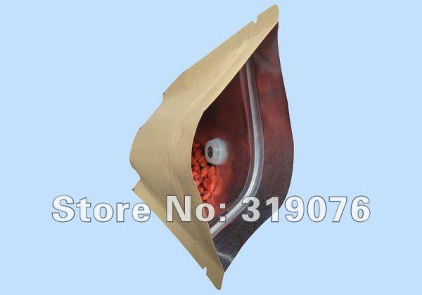 Usine directement la vente en gros 100g coffee bean pochette standup zipper lock sac d'emballage avec évent