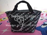Black Hello kitty cute lunch bag Handbag Girls Handbag#78