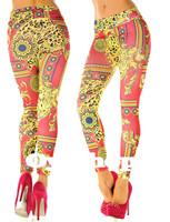 2014 rushed Women Leggings New Sexy Fashion Tattoo Print Jeggings Skinny Pants One Size( 8 10 12 M),palace Painted Pattern