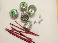 50pcs  LED energy-saving lamp holder E27 screw base socket  * LED energy-saving lamp accessories with line