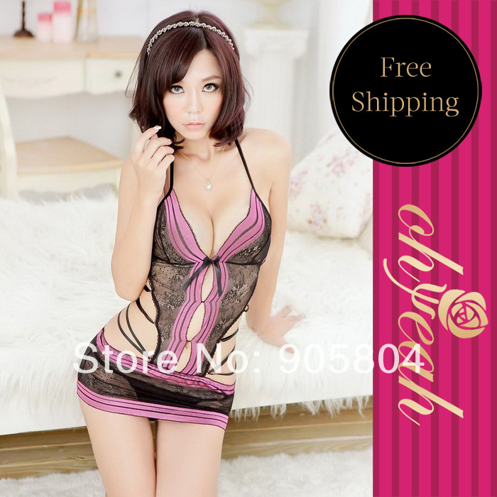 New arrival factory price wholesale and retail recommend sexy teddy nightwear dress sex babydoll L8243(China (Mainland))